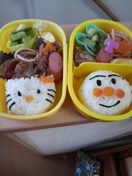 2009.9.7あんぱん&キティ弁当。.jpg